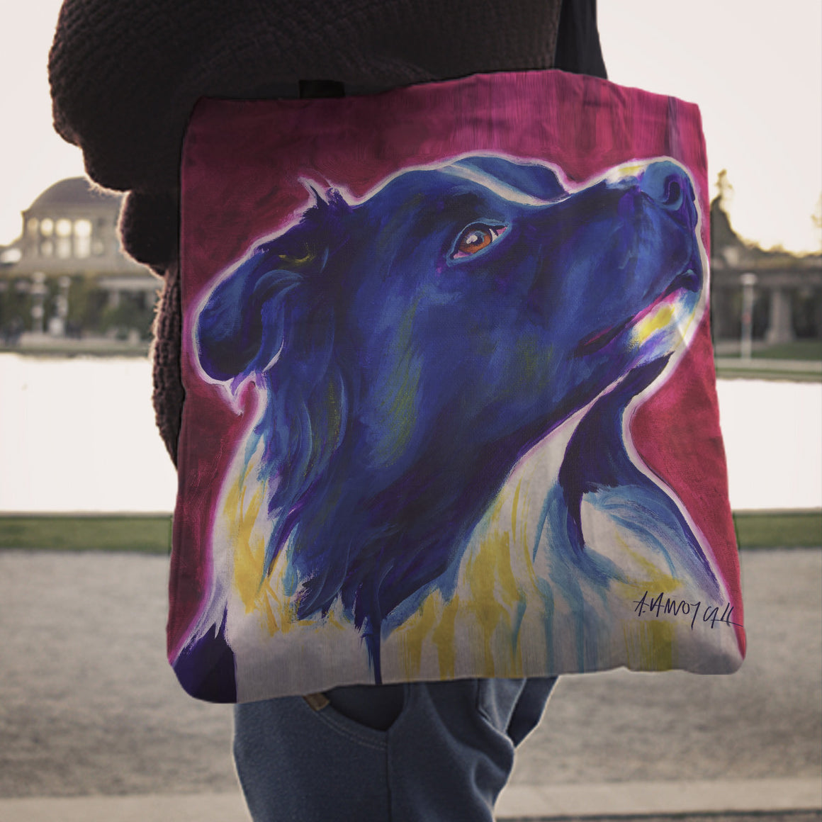 Border Collie Linen Totes
