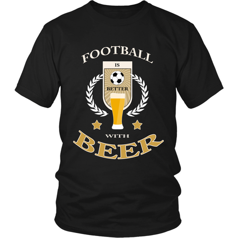 Football with Beer (T-shirt) - Teeternal - 1