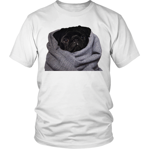 Blanket Black Pug (T-shirt) - Teeternal - 1