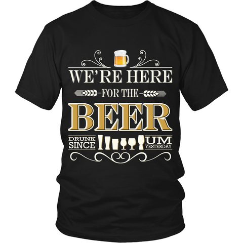 Beer - We're Here (T-shirt) - Teeternal - 1