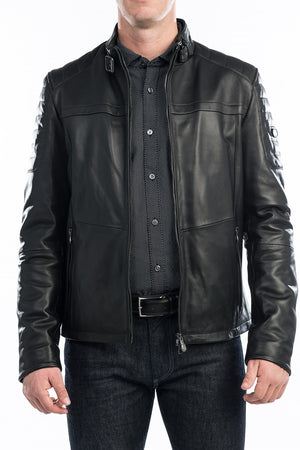 BOSS LEATHER JACKET JERON 50373284