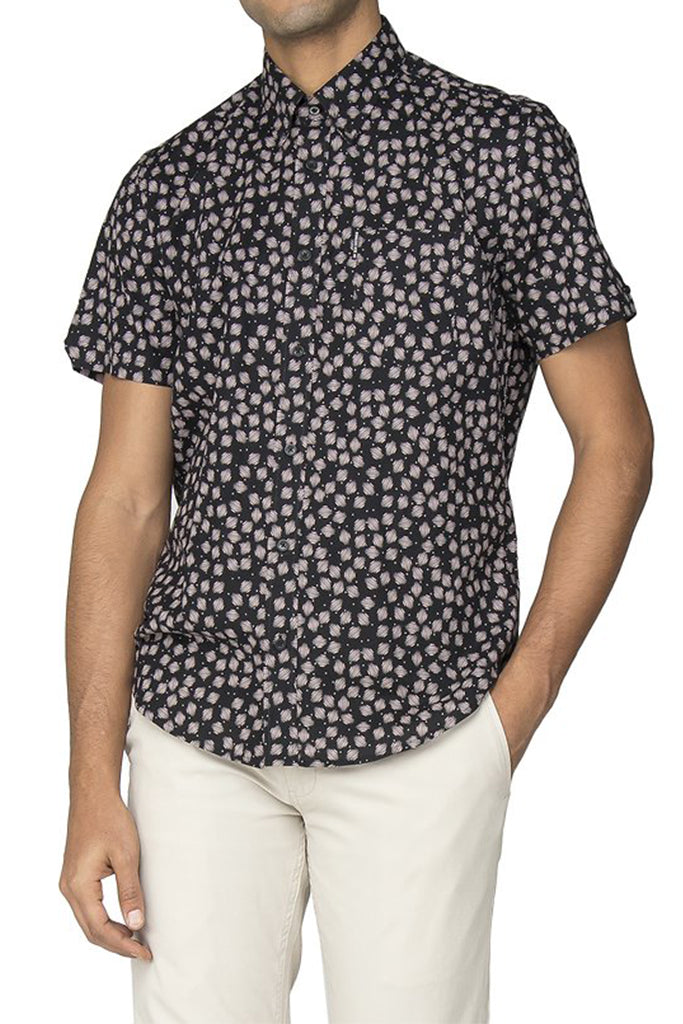 BEN SHERMAN S/S SHIRT GEO SCRATCH 540322