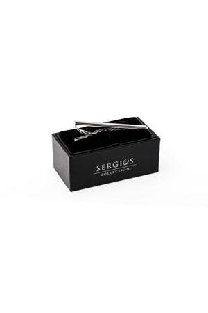 Sergio's Collection Tie Bar - Rounded Silver