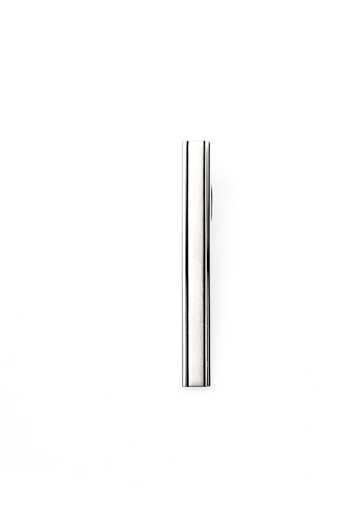 Sergio's Collection Tie Bar - Silver Strip