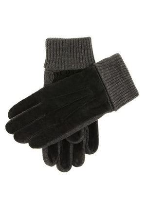DENTS KNIT CUFF PIGSUEDE GLOVE 5-1629