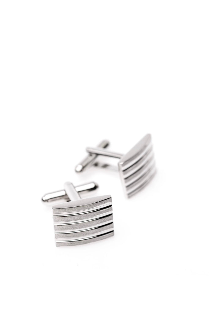 SERGIOS CUFFLINKS BRUSHED METAL - C289