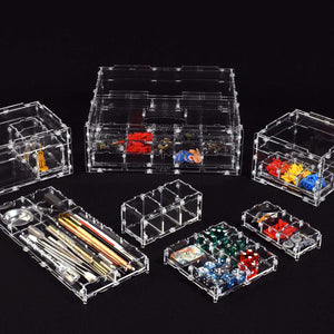 Acrylic cases and organizational containers