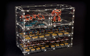 modular display case system for miniature games