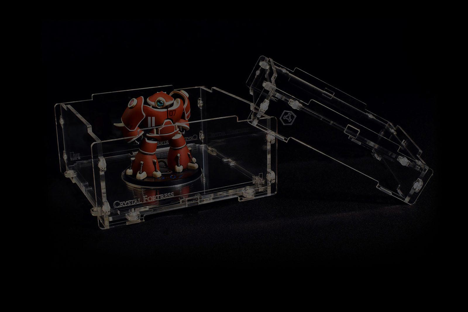 clear lucitelux acrylic case for miniatures