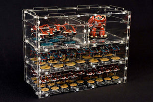 modular stackable acrylic display case system