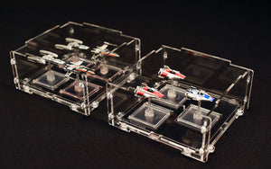 x-wing miniature game display cases