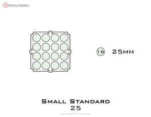 Diagram of Small Standard 25mm acrylic display case base - small image
