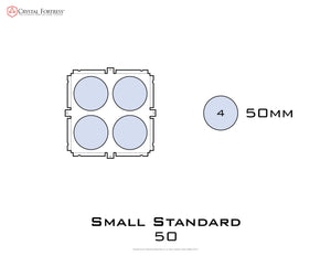 Diagram of Small Standard 50mm acrylic display case base - small image
