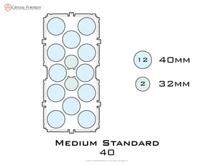 Diagram of Medium Standard 40mm acrylic display case base - small image