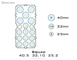 Diagram of Squad 40.5 32.10 25.2 acrylic display case base - small image
