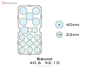 Diagram of Squad 40.6 32.10 acrylic display case base - small image