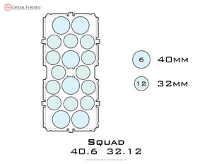 Diagram of Squad 40.6 32.12 acrylic display case base - small image