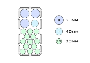 Diagram of Support 50.3 40.1 30.13 acrylic display case base