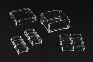 Crystal Fortress Beluga Fortress Acrylic Display Case Bundle for Miniatures