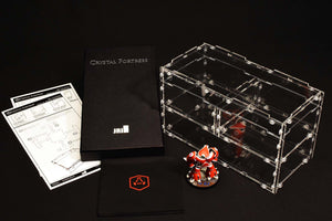 Crystal Fortress 1/4 Cube Acrylic Display Case Bundle