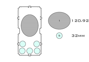 Drawing of medium acrylic display case base