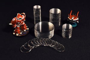 Clear acrylic miniature display case bases