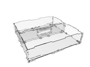 "Humpback 2"" acrylic display case for miniatures"
