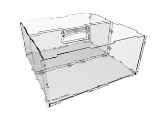 "Humpback 4"" acrylic display case for miniatures and models"