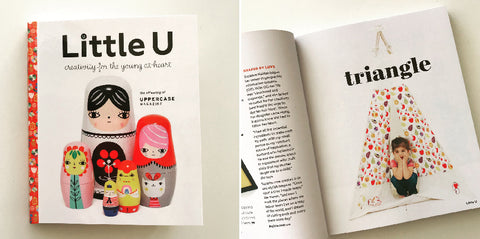 T is for Triangle and Teepee in Little U Magazine