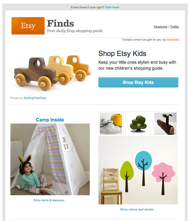 Etsy Finds Camp Inside