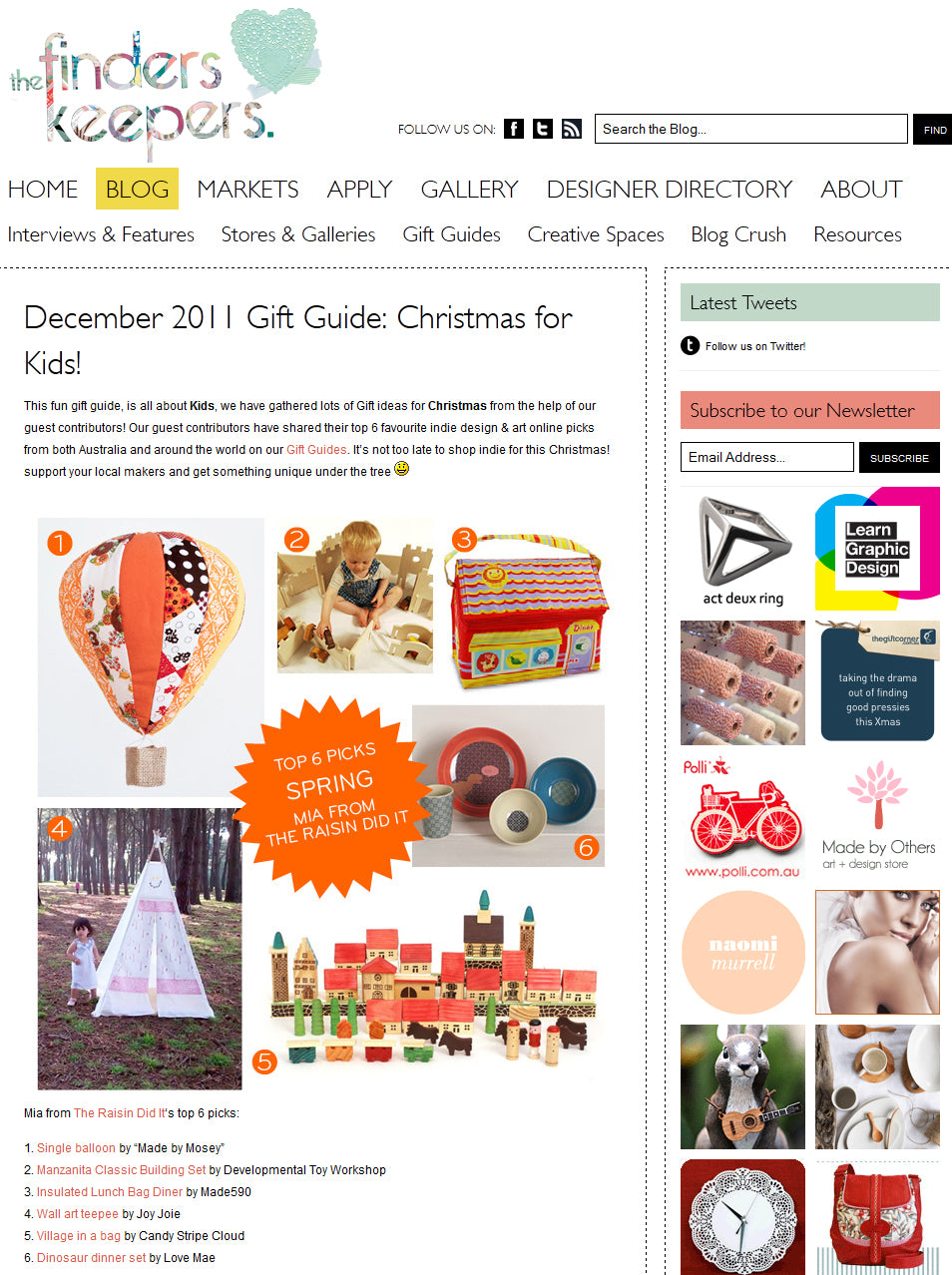 teepee gift guide Finders Keepers