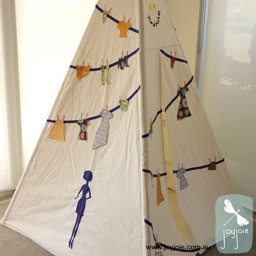 Purple Paper Doll Teepee