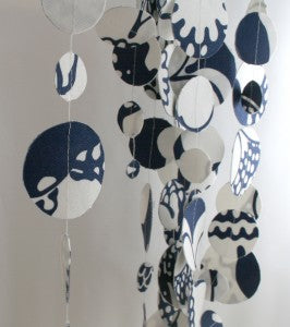 Blue and White Garland Fabric
