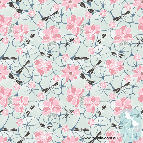 Dragonfly flor pattern repeat