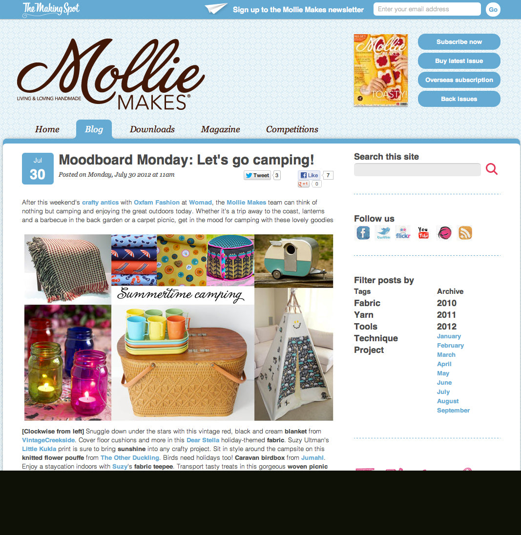 Mollie Makes Blog