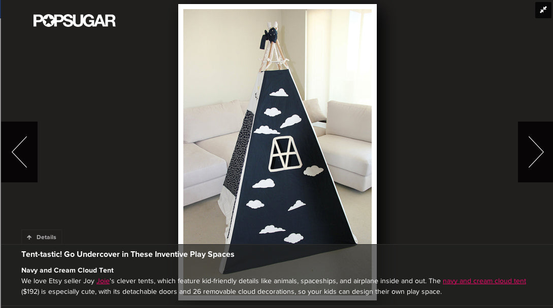 Popsugar teepee feature
