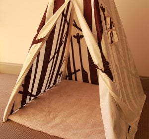Forest Teepee Inside View