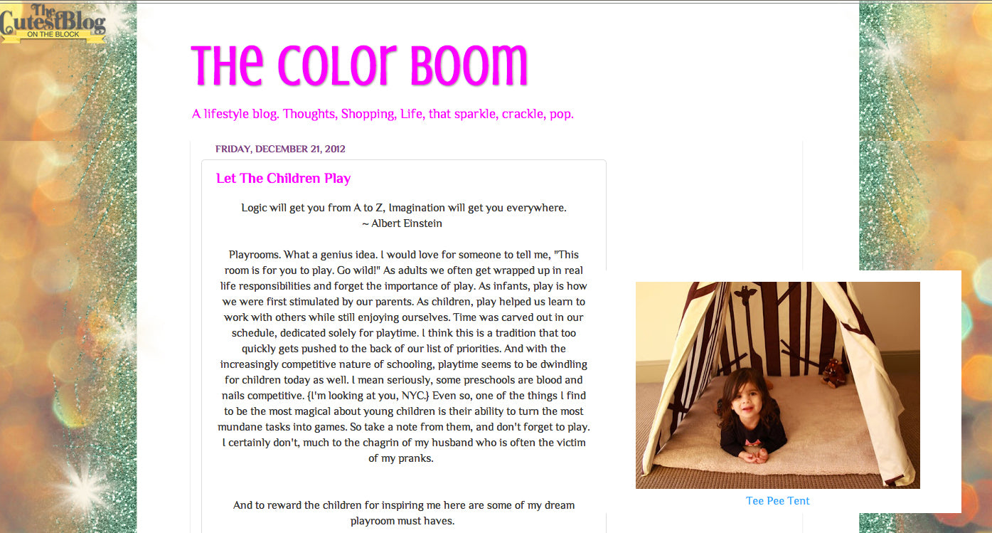 Thecolorboom teepee feature