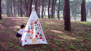 Spring teepee wall art