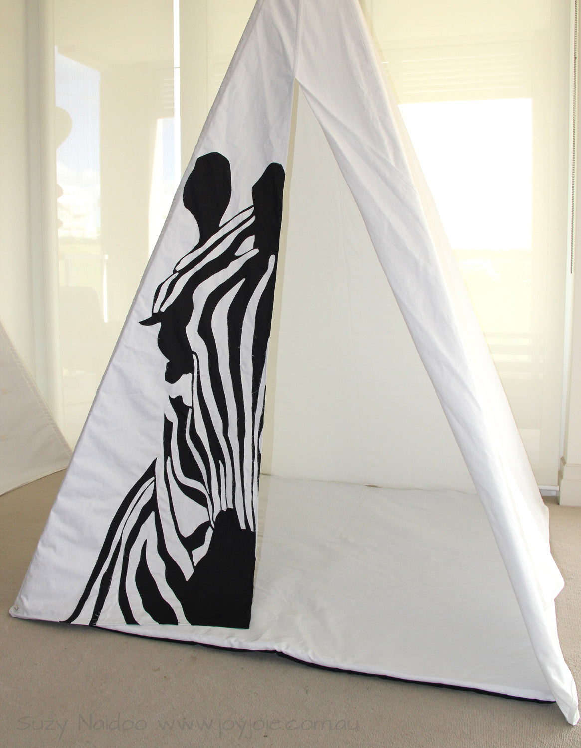 Zebra Tepee in Black