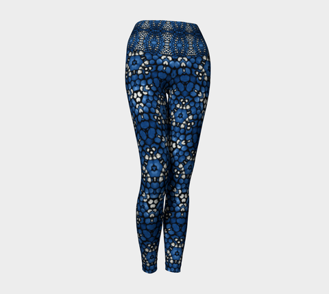Blue Kaleidoscope Yoga Leggings