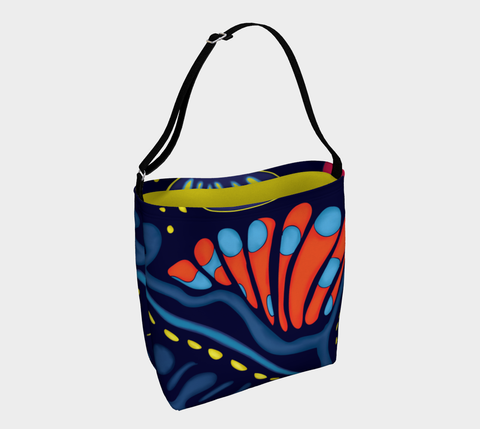 Mandarin Fish Print Day Tote