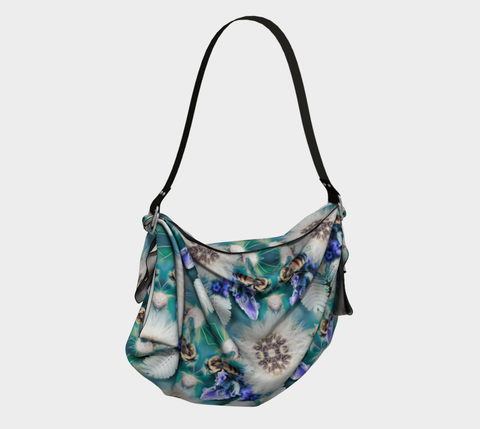 Mystic Garden Origami Tote in Blues