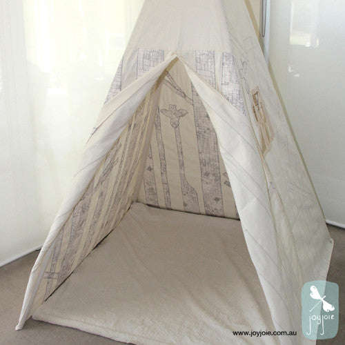Secret Forest Tepee in Architectural Print - joyjoie