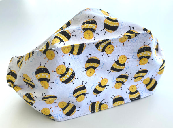 Various Yellow Print Cotton Face Mask | triple layer | Women's, men's and children's sizes
