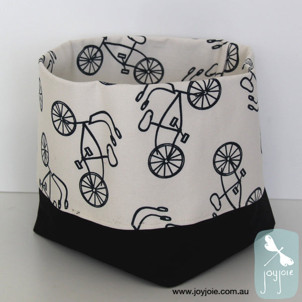 Bike Print Storage Sack with black contrast (small) - joyjoie