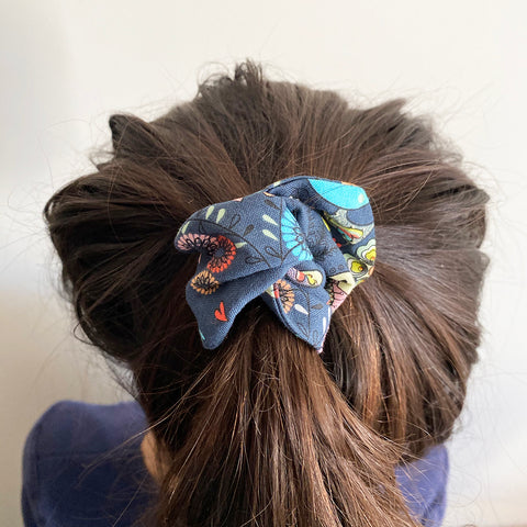 Birds Inside fabric with wire hair-tie | Wire Hair-tie