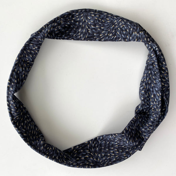 Black flecked pattern Head Band | Fabric Wire Hairband