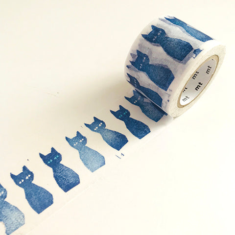 MT Mina Perhonen Blue Cats Washi Tape
