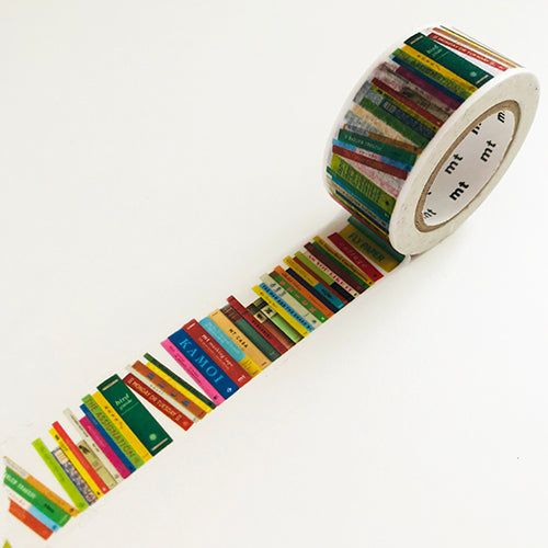MT washi tape of Books in a row